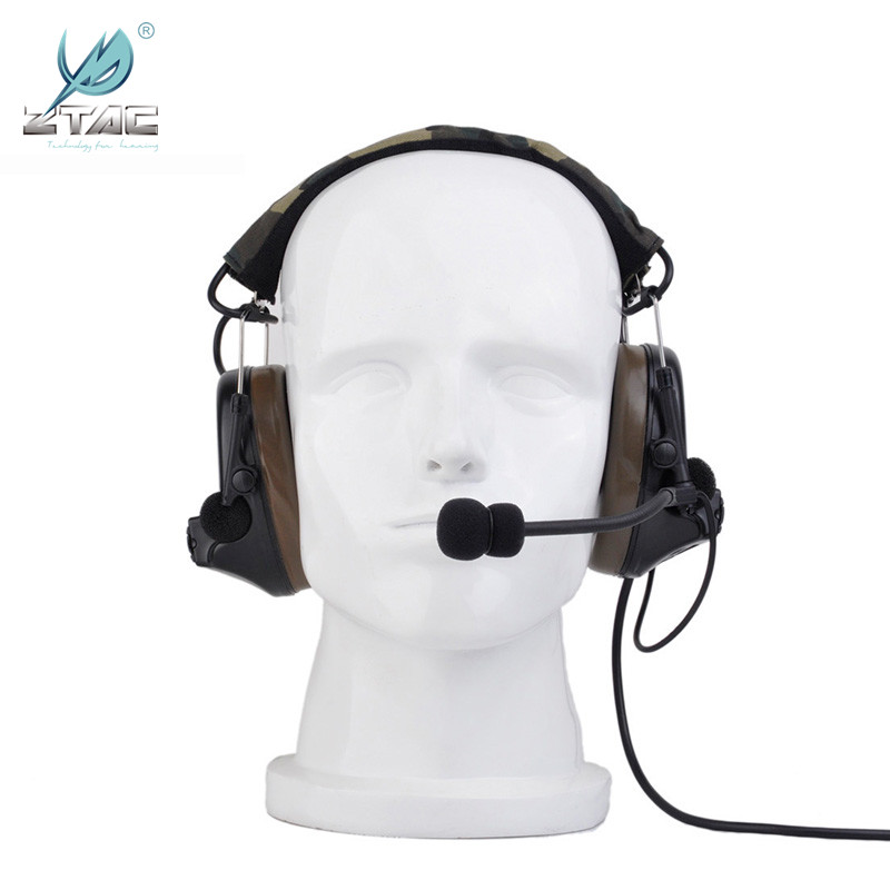 Image 2 - Ztac Tactical Comtac II Military Aviation Accessories Headphone Active Hunting Shooting PTT Peltor Noise Reduction Headset Z041-in Tactical Headsets & Accessories from Sports & Entertainment