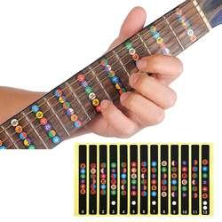 Slozz гитарная наклейка акустическая электрическая гриф Примечания карта 6 строка аксессуары-бирки для Guitarra обучения