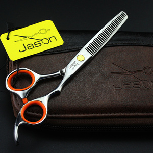Image 5 - 2 Scissors+Bag+Comb Japan High Quality Jason 5.5/6.0 Inch Professional Hairdressing Scissors Hair Cutting Barber Shear Set Salon