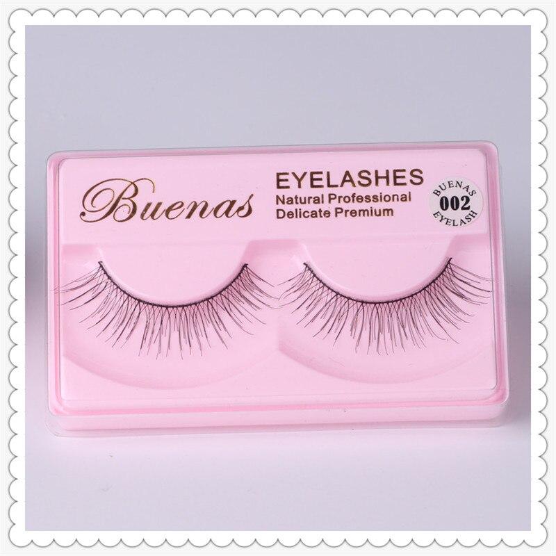 Buenas eye lashes 002 eyelashes extensions hand made false eyelashes cotton stalk full strip lashes winged eyelash