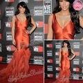 Red Carpet Kim Kardashian Dress Sexy V-neck Mermaid Floor length Satin Evening Celebrity Dresses