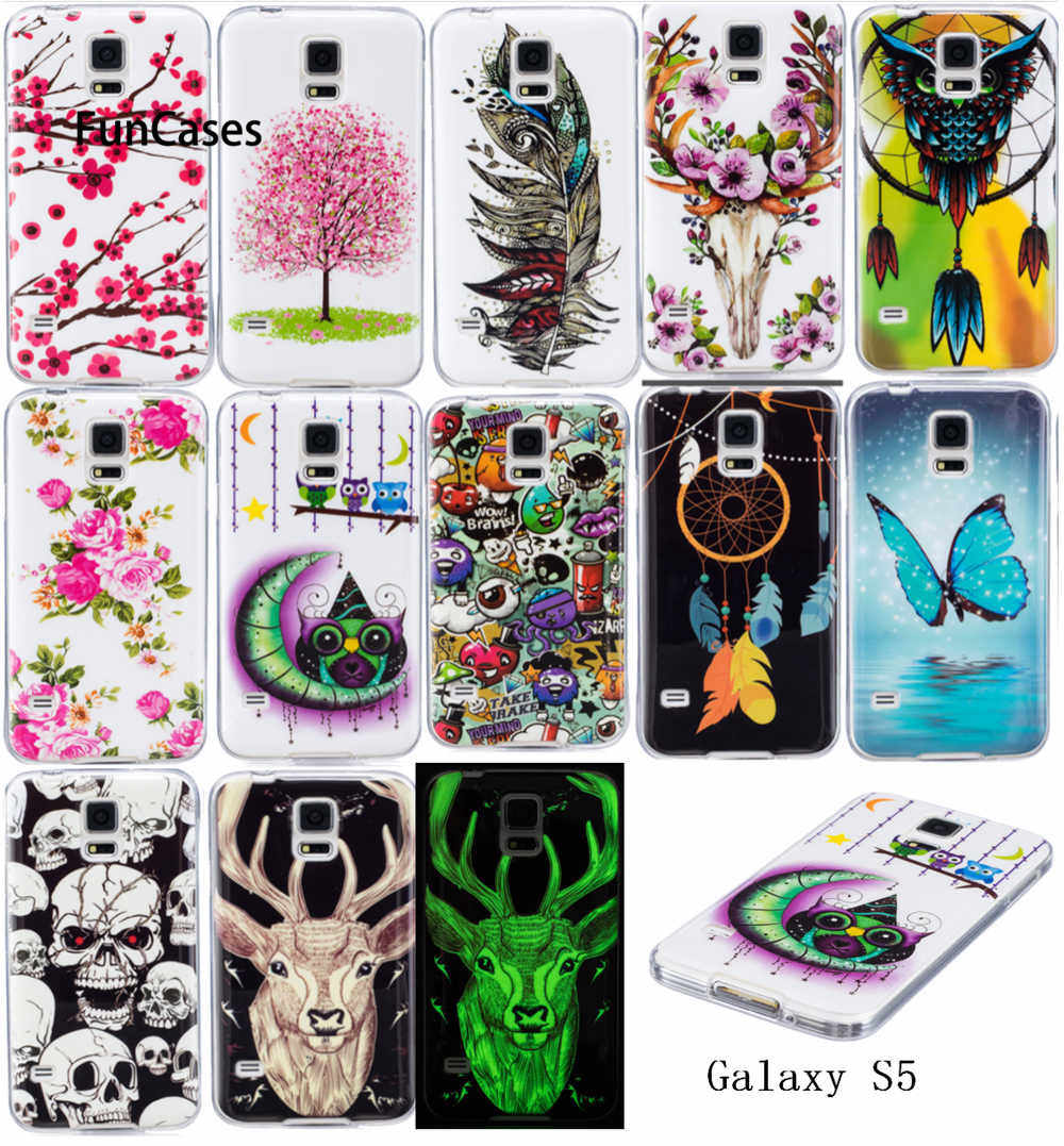 Bercahaya Kasus untuk SAMSUNG Galaxy S5 S5Neo SM-G903F Duos SM-G903M/DS Lembut TPU Silicon IMD Glossy Cover untuk Galaxy s5 Neo G903FD