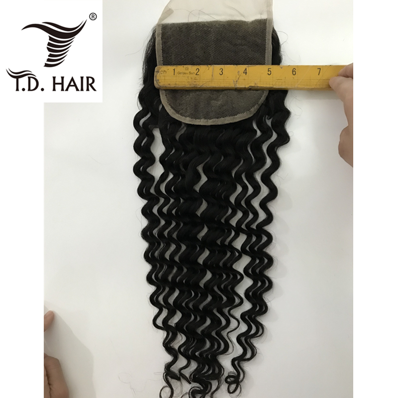 Peruvian Deep Wave 5*5 Lace Closure Natural Color Human Hair Closure Bleached Knots Pre Plucked Natural Hairline