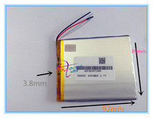Wholesale 10 pcs 3.7V 4000mah 388992 Lithium Polymer Li-Po Rechargeable battery For DIY GPS PSP Power bank Tablet PC MID DVD PAD