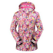 Winter Phibee Women Waterproof Ski Jacket  Thick Warm Snowboard Jacket Windproof Breathable for Russian -30 Degree
