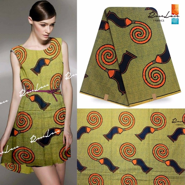 2017 Wax Fabric 6 Yards Dresses Material With Prints Design For Women Cotton  Clothes Sewing African India Super Style Wax Fabric c6e3a6188439