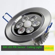 6 Вт из светодиодов ик-датчика автоматический встраиваемые потолочный светильник двойной освещение AC 85 — 265 В