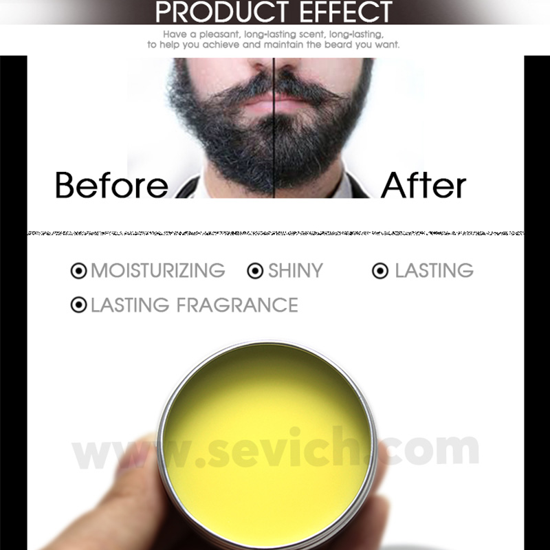 Sevich Natural Beard Conditioner Professional Beard Balm For Beard Growth Organic Moustache Wax For Beard Smooth Styling