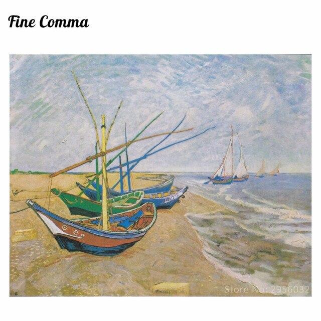 Fischerboote Am Strand In Saintes Maries By Vincent Van Gogh