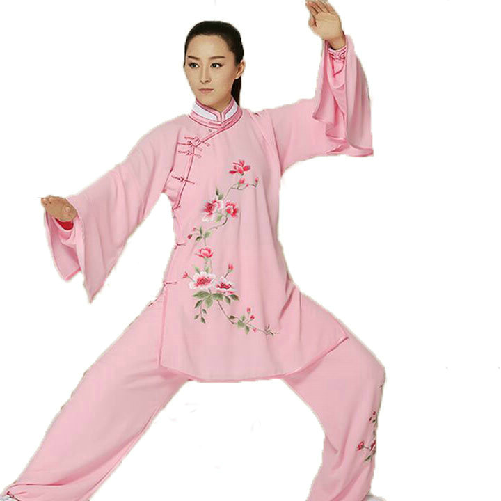2016 Spring And Summer Linen Custom Female Tai Chi Clothing Suit Performance Clothing Competition Clothes Kung Fu Sets