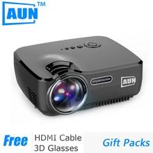 AUN Proyector 1200 Lúmenes Cable Libre de HDMI Mini Proyector de la Ayuda 1920×1080 P LLEVÓ el Proyector para Cine En Casa ATV puerto AM01