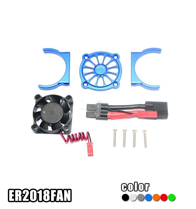 1 Satz Traxxas E-revo Motor Kühler Aluminium Legierung Er2018fan Motoren Kühlkörper Mit Lüfter Für Rc Autos Änderung Teile