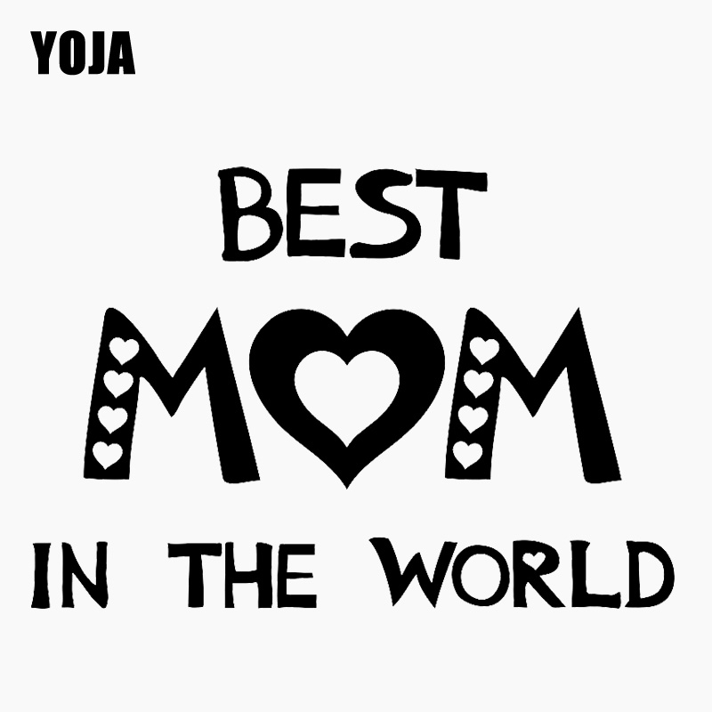 YOJA 55CM*37.5CM Best Mom in the world Art Decor Mother Gift Parents PVC Wall Sticker W1-939 image