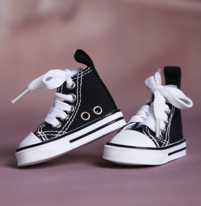 New Fashion Black Canvas shoes 1/4 BJD MSD Doll Shoes new bjd sd17 sd13 sd10 msd dimensional cutting pin height adjustable doll mannequin