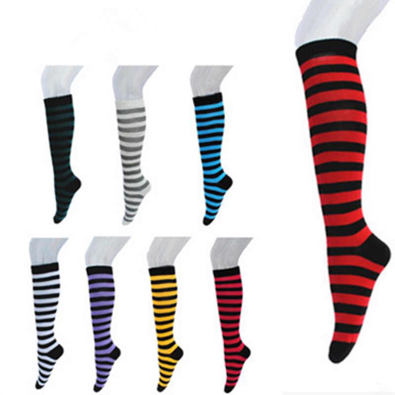b2246c994ca Boots Thigh Knee High Socks New Colorful Sexy Striped Compression Women s  Long Socks Ladies Girls Fashion
