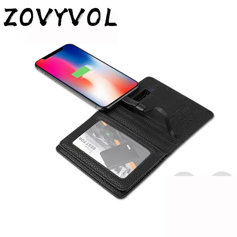 ZOVYVOL 2019 portefeuille magique unisexe avec portefeuille de chargement USB adapter pour Ipone et Android type-c capacité 4000 mAh portefeuille créatif