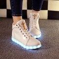 Señora tenis Led Simulación Luminosa Cesta Resplandor bambas de Alta Superior entrenador de Neón Zapato de Altura con Luz para Adulto Feminino estafa