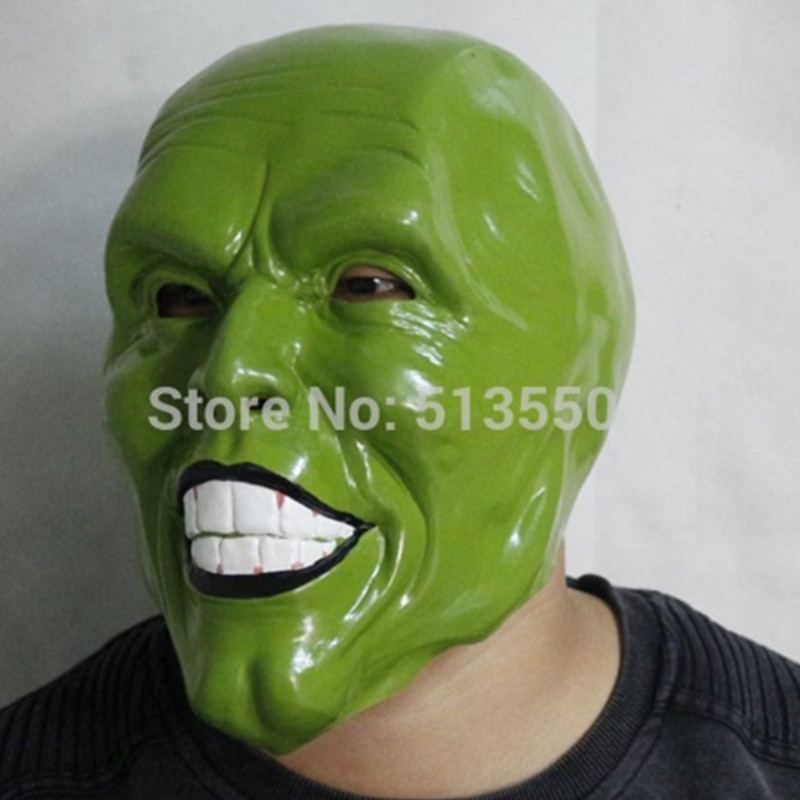 The mask jim carrey movie film toys figure green alien mask image