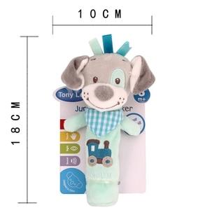 Image 5 - 新生児ガラガラリングベルベビー漫画の動物ガラガラかわいいぬいぐるみ動物の手の鐘幼児早期教育の人形のおもちゃ Y13