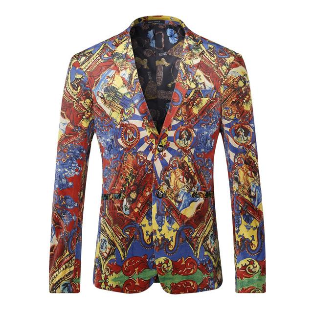 Blazer Men 2016 Luxury Brand Red Velvet Blazer Spring Autumn Chinese Style Men Coats And Blazers Fashion Blaser Hombre XXXL Q206