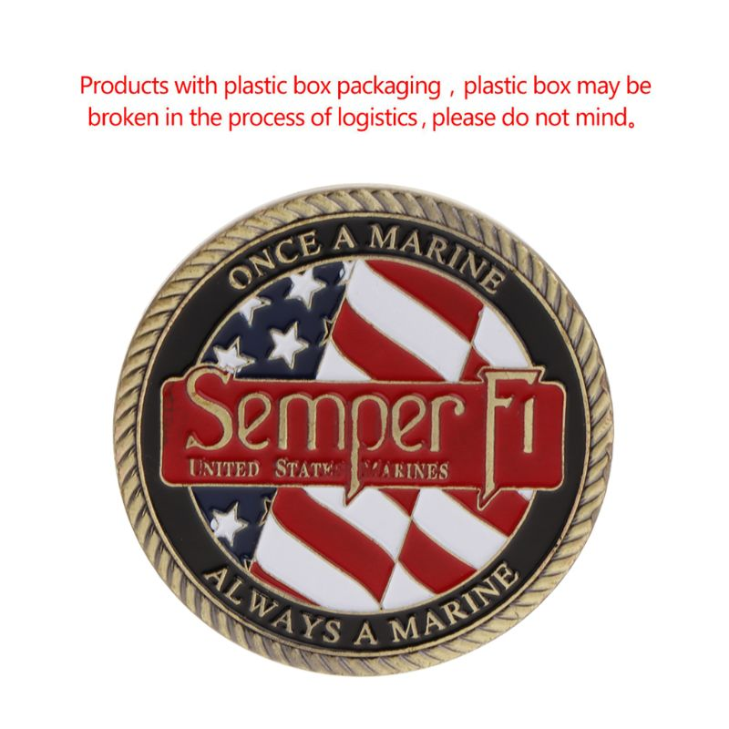 Commemorative Coin America Marine Corps Motto Honor Courage Commitment Collection Craft Art Collectible Coins Souvenir