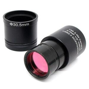 Image 4 - 2.0MP USB CMOS กล้อง Electron อุตสาหกรรมกล้องดิจิตอลฟรีไดร์เวอร์ซอฟต์แวร์การวัดแหวนอะแดปเตอร์สำหรับจับภาพ