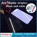 Для iPhone 6 6 Plus 4.7 5.5 дюймовый Матовый/jet белый и черная Задняя Крышка Корпуса Металл Вернуться Замена Шасси для iphone 6
