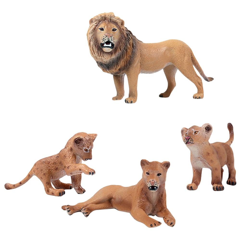 Animal-Figure Lions-Models Simulation-Realistic Plastic Kids Children for Toddler 4PCS