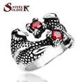 Steel soldier stainless steel fashion men opending ring Cool CZ Claw Ring personality vintage Jewelry BR8-141