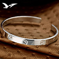 Silver Silver Bracelet 999 Korean version of sterling silver bracelet girl genuine girlfriend to send gifts Bracelet for women