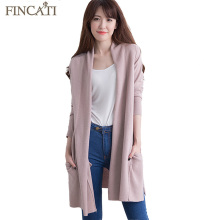 2017 High-End New Women's Long Soft 100% Pure Cashmere Open Stitch Cardigan Autumn Winter Fluffy Sweater Outwear Clothing