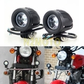 Black 10W 1000LM Waterproof Motorcycles Headlight Spotlight Auxiliary LED Work Light for Dirt Bike ATV Scooter