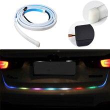 Bostar Auto Porta Traseira Do Carro Virando Sinal de Luz Bar RGB Tiras de LED Faixa de Luz Tronco Multicolor Travagem Lamp #280799
