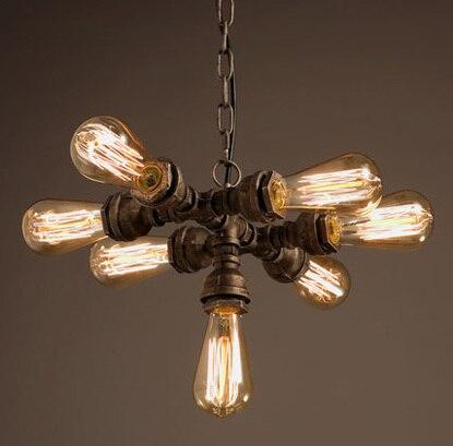 7 lampa trubka styl přívěsek světla umění přívěsek světlo Bar Edison Vintage přívěsek světlo obsahuje Edison žárovka doprava zdarma