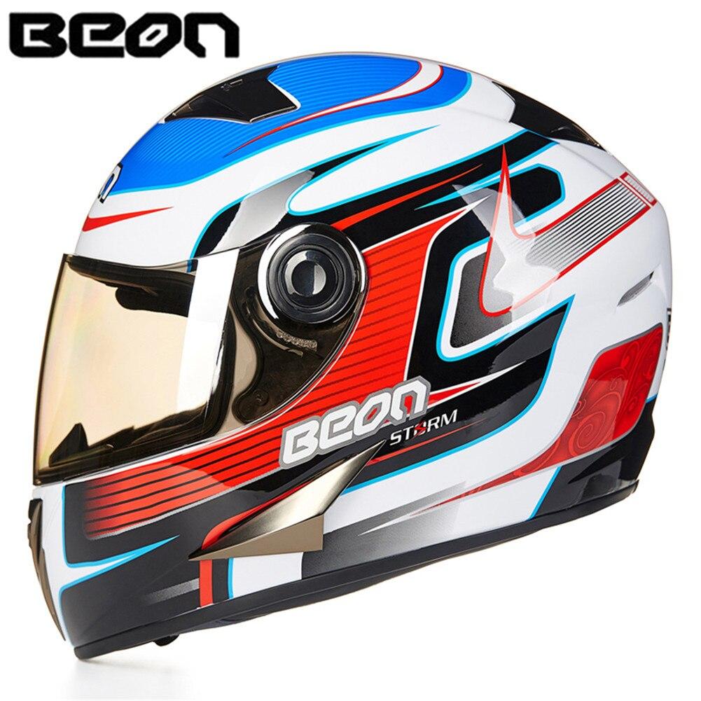 BEON Full Face Motorcycle Helmet Racing Helmet Moto Casque Casco motocicleta Capacete Kask helmets Chrome Visor 50013 Helmets