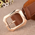2017 Fashion Women Belt Vintage Genuine Cow Leather Metal Clasp Buckle Waistband Pin Buckle Top Quality Strap Female For Jeans