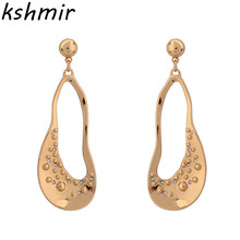 Zinc alloy fashion jewelry Fashion personality long earrings eardrop geometry new