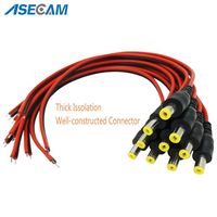 DC Power Female Cable 2.1mm * 5.5mm Connectors for Home Security Surveillance Camera Power Adapter Party lighting Connection