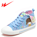 DOUBLE STAR Kids Shoes Lovely Cartoon Outdoor Shoes High Help Canvas Children Shoes Spring Autumn Girl Walk Shoes Kids Sneakers