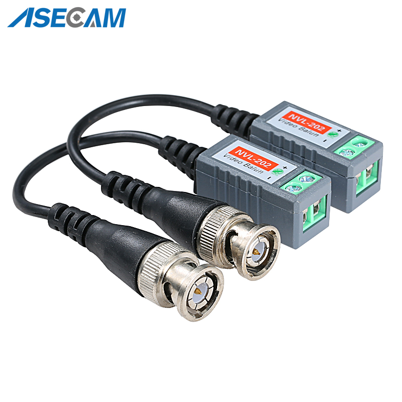 CCTV Accessory 3000FT Distance UTP Video Balun Twisted CCTV Passive Transceivers BNC Cable Cat5 CCTV Adapter