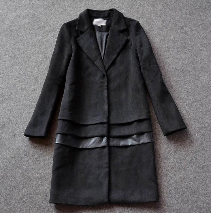 21e7f6068 Autumn Winter 2016 Celebrity Victoria Beckham Long Wool Coat Women ...