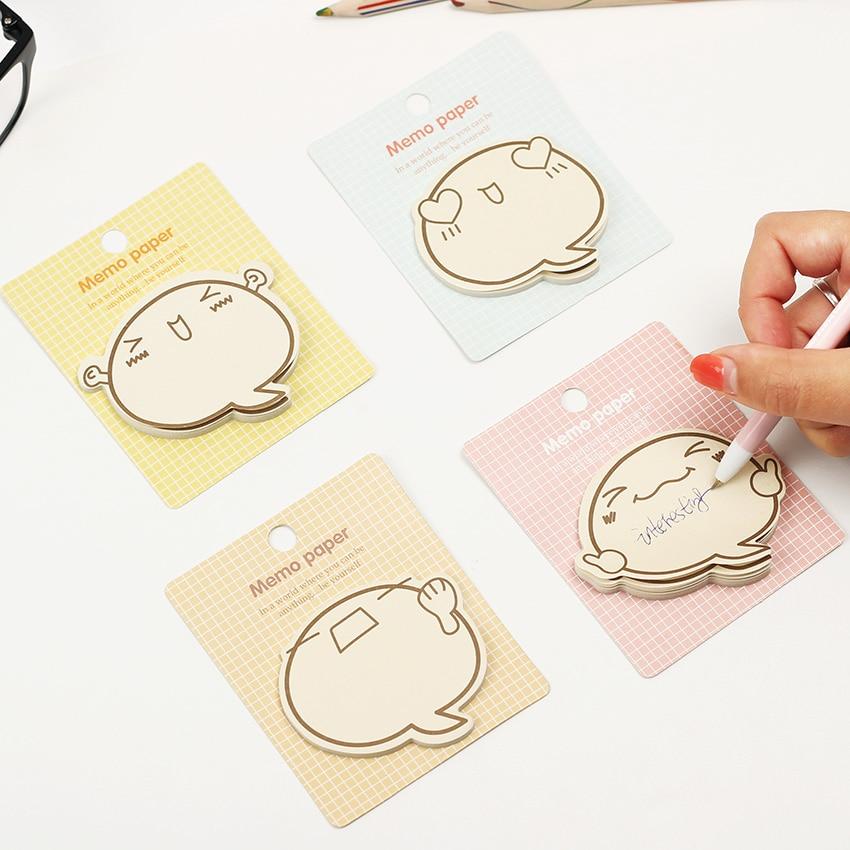 1PC Decoration Stationary Kawaii  Big Face N Times Notepad Note Book Memo Pad Sticky Mark Random