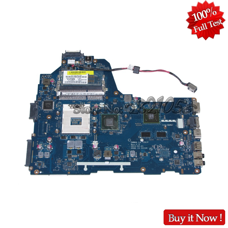 NOKOTION PWWHA LA-7201P MAIN BOARD For Toshiba Satellite C660 Laptop Motherboard K000124380 HM65 DDR3 GT310M Video card
