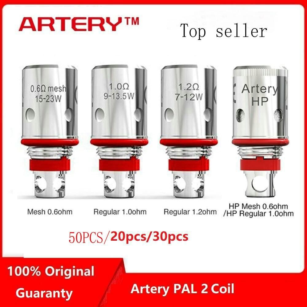 50PCS,30PCS/Lot Original Artery PAL II Coils Mesh 0.6ohm 1.0ohm 1.2ohm For Artery PAL 2 Pod Kit  Artery PAL 2 Replacement Coils