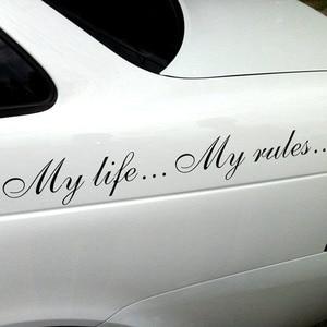 Three Ratels TZ-640 8.5 на 60cm  1-2шт My life My rules Моя жизнь... Мои правила стикеры наклейки на авто Наклейки на автомобиль