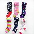 6 unids/pack envío gratis bebé bebé de las muchachas medias panti medias medias del bebé del cabrito niños niñas pantimedias medias de rayas