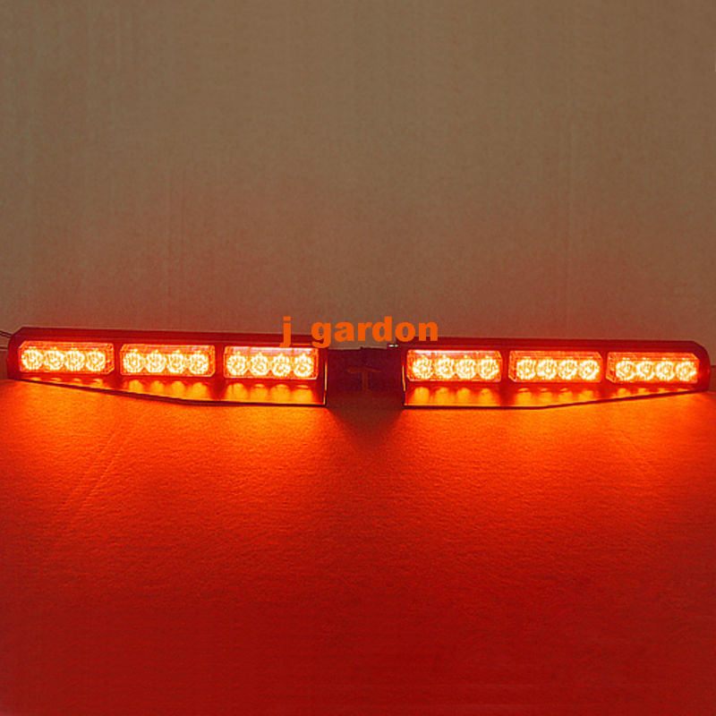VSLED 2 x 12 LED 1 Watt Emergency Warning Beacon Light Bar Exclusive Split Visor Deck Dash Hazard Strobe Red LightBar