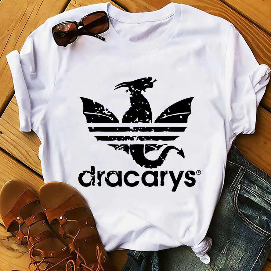 Daenerys Draak Camiseta Dracarys Grappige T-shirt Mannen Zomer Nieuwe Witte Casual KREEG Unisex T-shirt Cool Harajuku Street Wear T-shirt