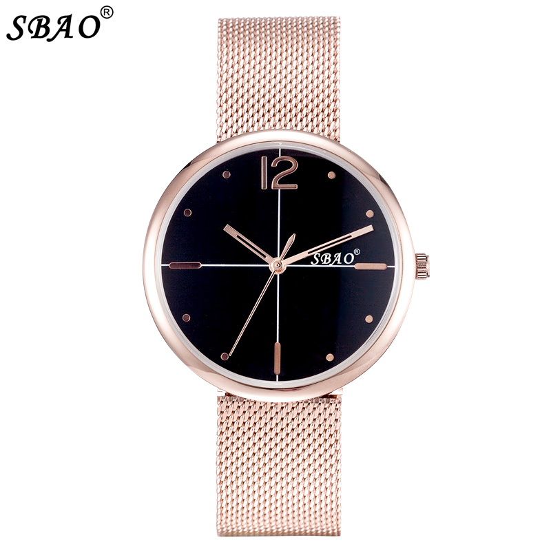 цены SBAO Top Brand Men Watch Lovers Quartz Wristwatch Full Steel Band Male Business Watches Big Dial Simple New Style Clock Relogio