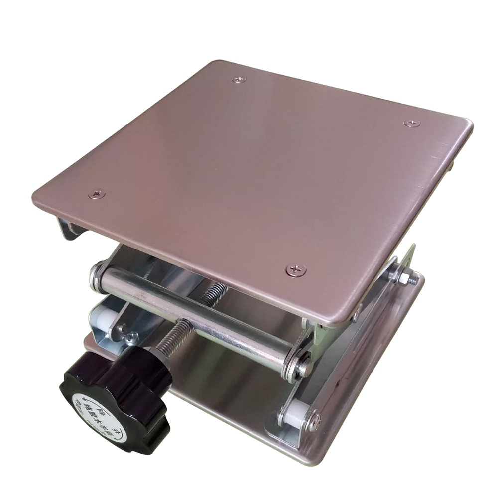 Lifting Platform Adjustable Laboratory Lift Stainless Steel Lab Stand Table Scissor Lifter Mini Hand Elevator 12